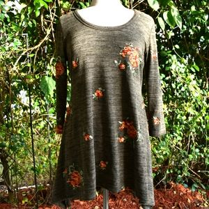 Figueroa and Flower embroidered top long sleeve